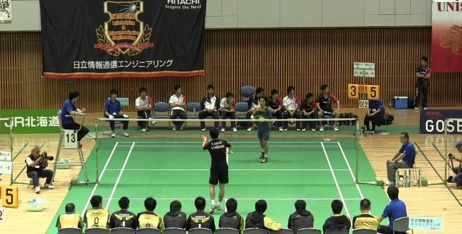 準決勝 第63回全日本実業団バドミントン選手権大会 ユニシス vs ...