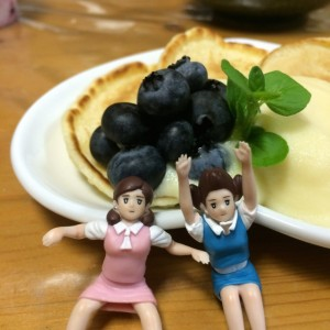 ふちこ2人とパンケーキ