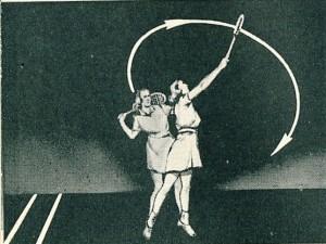 1950年代のオーバーヘッドスイングフォーム1
