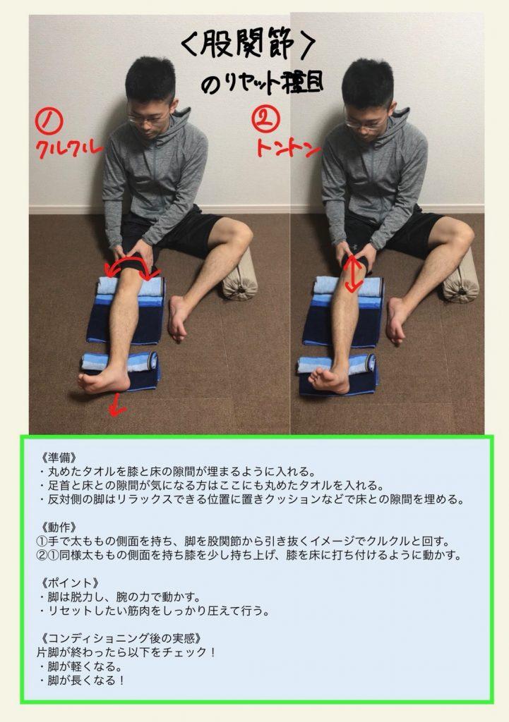 股関節のリセット項目